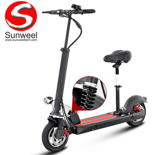 Factory Direct 2 Wheel Foldable 10Inch Electric Scooter With Seat