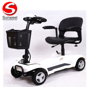 Factory Directly Lithium Battery Foldable Portable 4 Wheel Electric Scooter for Adult