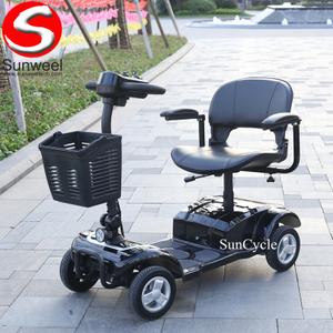 Suncycle 4 wheel electric scooter mobility scooter 2 seats handicapped scooter for disabled