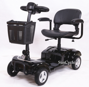 Suncycle Wholesale Best Quality 4 Wheels Folding Electric Mobility Scooter For Handicapped
