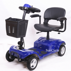 Suncycle 2020 New Style Electric Mobility Scooter 4 Wheel Electric Car For For Old Adult