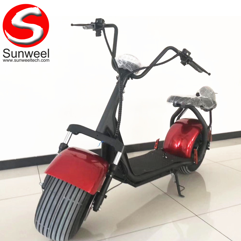 1500w Max Speed 45km/h Distance 60km Brushless Motor 18 Inch 2 Wheel Adult Citycoco Scooters