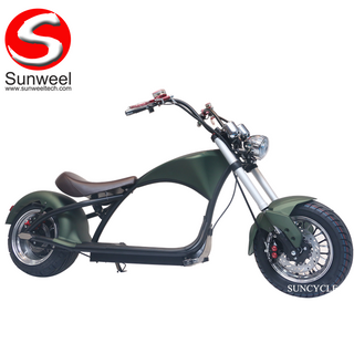 2000w Power And 60v Voltage Electric Scooter Chopper Citycoco