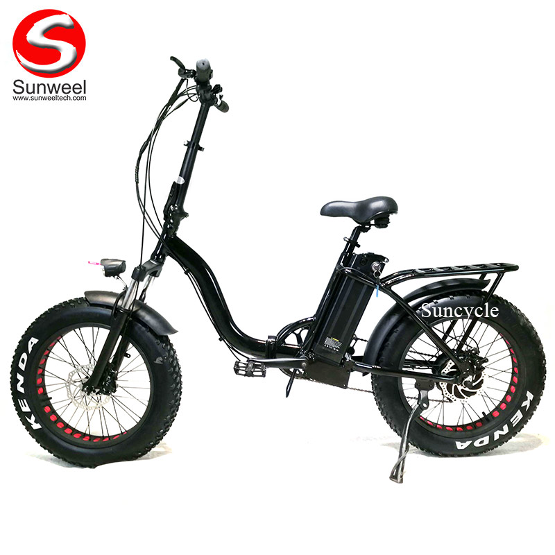 48V 500W Foldable Electric Bicycle Fat Tyre Ebike for Ladies