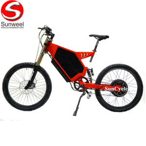 Suncycle Off Road Electric Motor Bike 5000 Watt Hydraulic Disc Brake Fortified Steel Stealth Boomer