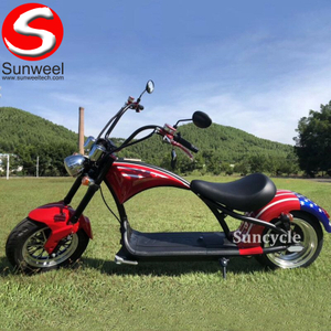 Citycoco Electric Scooter Super Chopper Bike with EEC/COC Speed 25km/h 45km/h