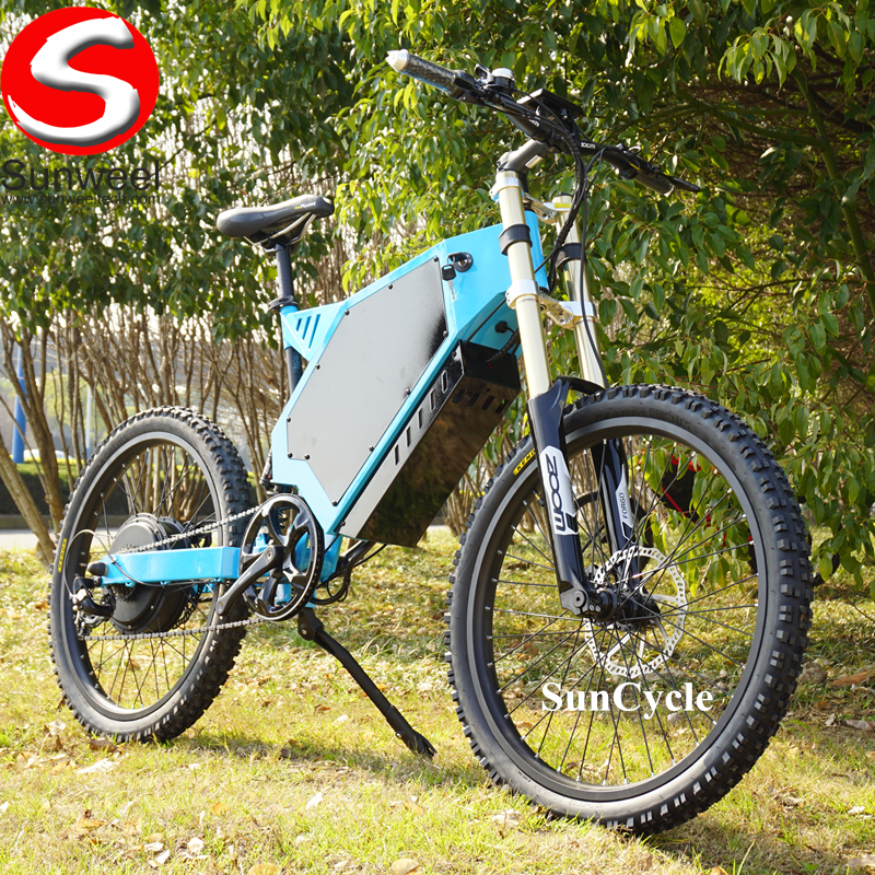 Suncycle 72v40ah lithium battery full suspension sur ron ebike bomber mtb electric bike