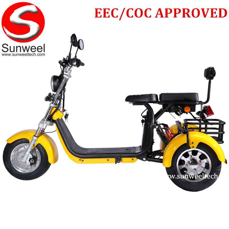 Electric Tricycle Cargo 3 Wheels Adult Electric Scooter Citycoco